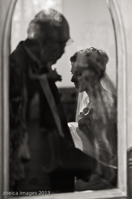 the anticipation of a bride waiting for ceremony