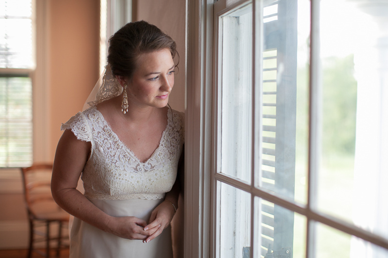 bride just before ceremony