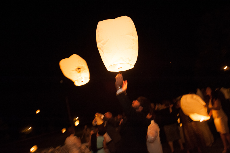 chinese lanterns at wedding