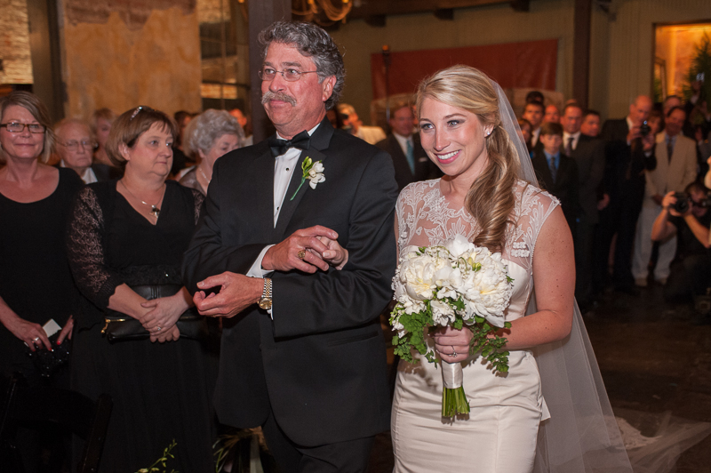bride and father down aisle at latrobes