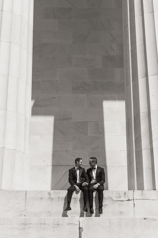 lincoln memorial wedding photograph