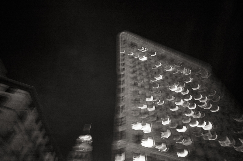 long exposure photograph in new york city