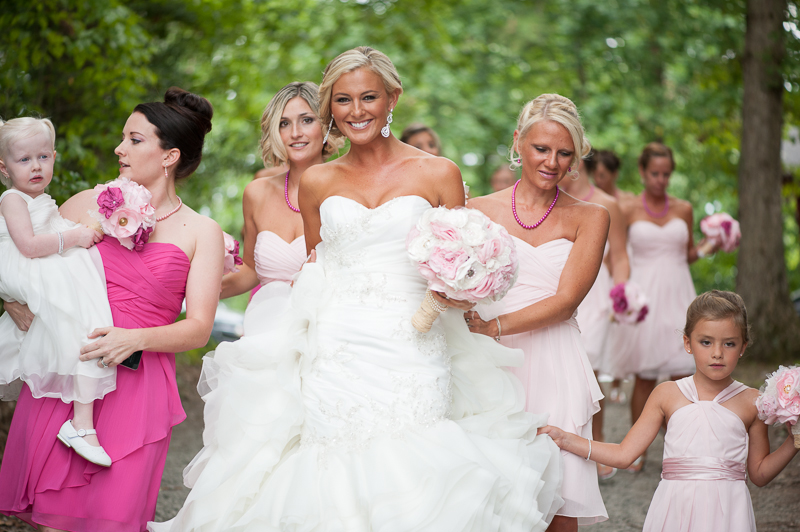 bride and bridesmaids virginia wedding