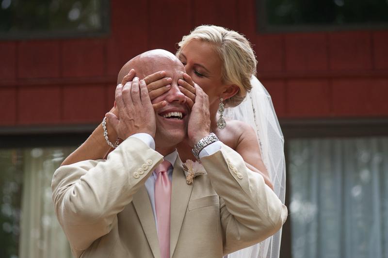 first look bride and groom virginia wedding